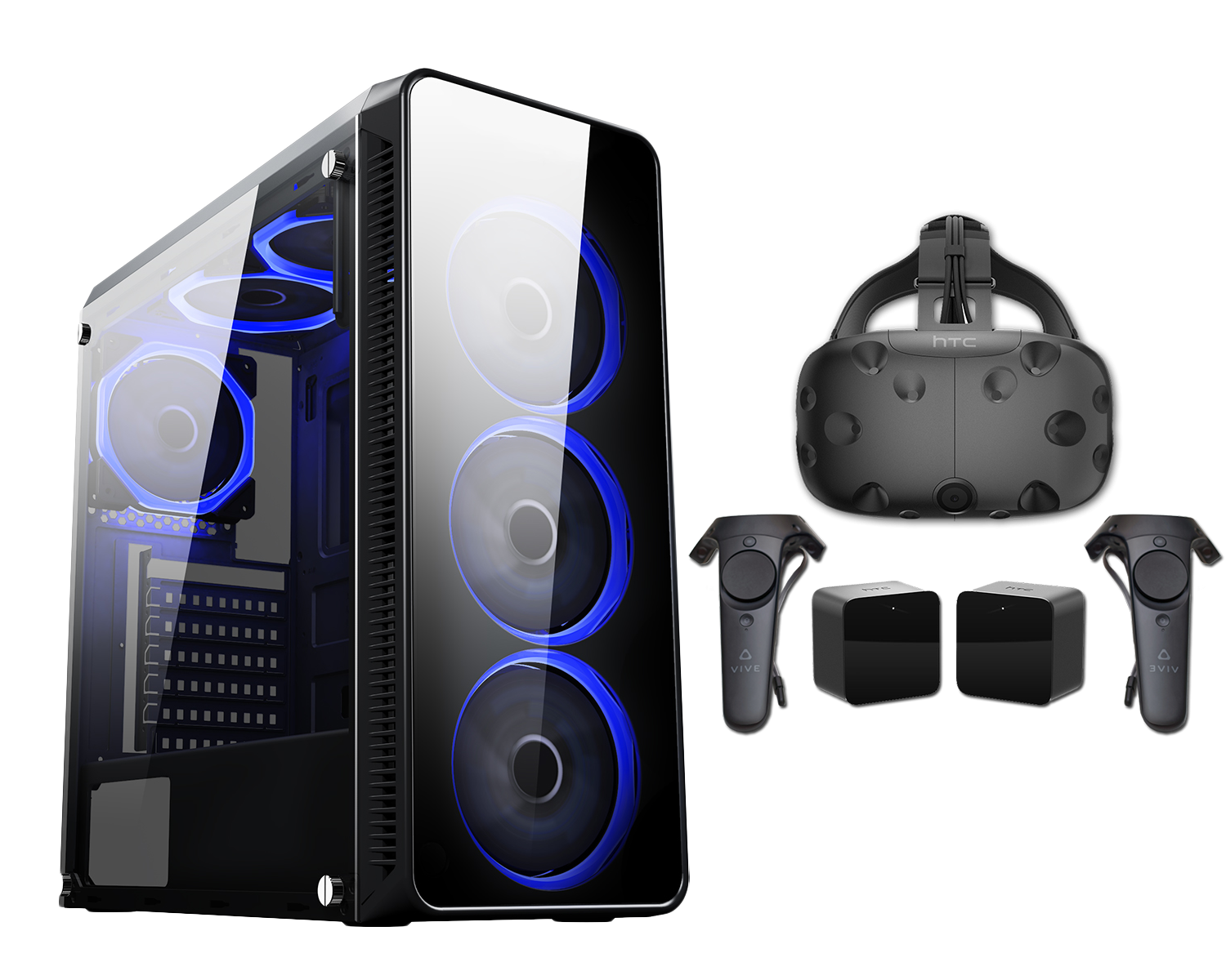 HST Blaze Ryzen 5 2600 8GB GTX1660 6GB Customisable HTC Vive PC Bundle