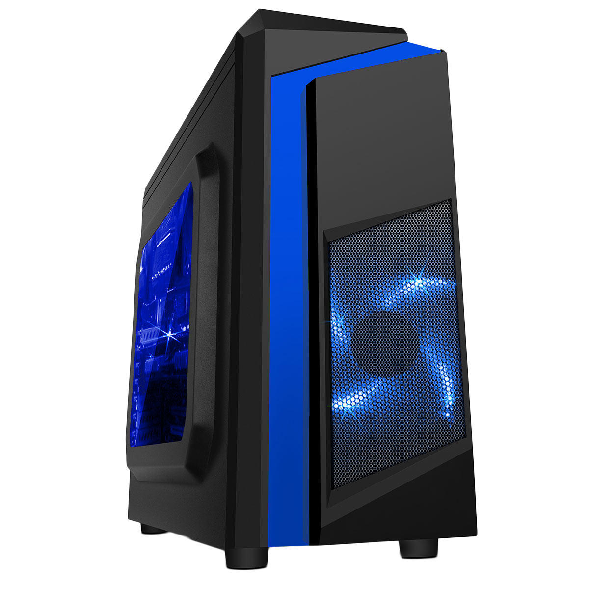HST F3 Blue i5 Quad Core 8GB RAM 500GB GT710 NVIDIA Customisable Gaming PC