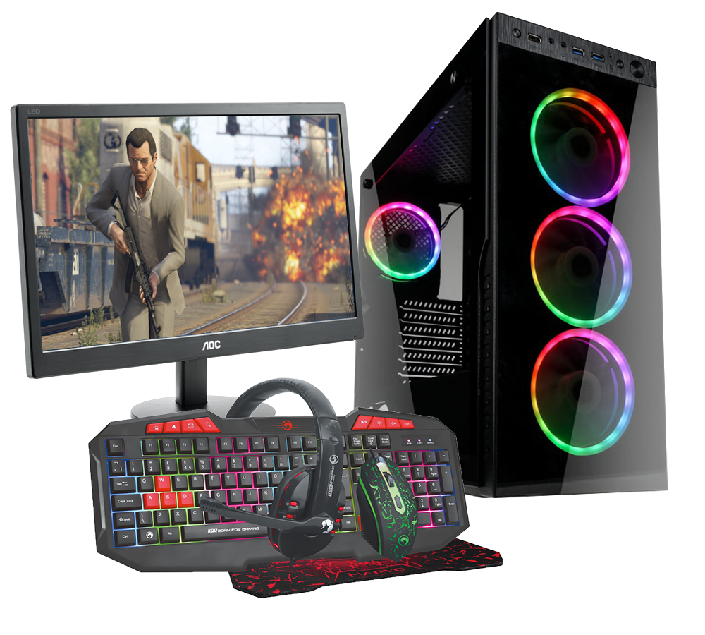 HST All in One GTA V Intel i5-9400F Gaming PC Bundle