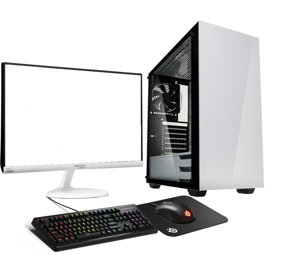 HST All in One Steelseries Stronghold Ryzen 5 2400G Customisable Gaming PC Bundle