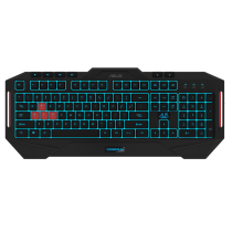 Asus CERBERUS Gaming Keyboard, Macro Keys, 2 Colour LED Backlighting, 19 Anti Ghosting Keys
