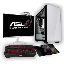 HST All in One Asus Stronghold Ryzen 5 3400G Customisable Gaming PC Bundle
