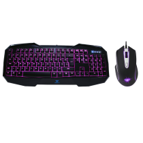 Killing Shadow Black 3 Colour Keyboard & 7 Colour Mouse Gaming Combo