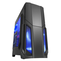 Storm Black ATX Case 1 x 12cm Blue LED Front Fan
