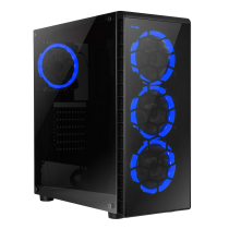 HST Raider Blue i5 Quad Core 120GB SSD GTX 4GB 1050Ti Gaming PC