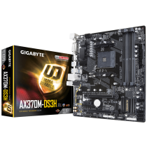 Gigabyte AX370M-DS3H (Socket AM4/X370/DDR4/S-ATA 600/Micro ATX) Motherboard