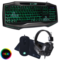 Gamemax Raptor RGB Keyboard & Mouse Black Headset & Mouse Mat