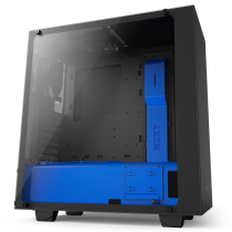 NZXT S340 Elite Black + Blue